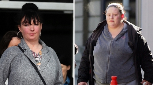 Rachel Comiskey (L) and Anna Marie Pezzillo (R) were remanded in custody until 14 May for sentence