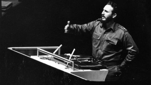 Cuban leader Fidel Castro in the early 1960s: Ireland agreed to a US request to search Cuban-bound planes passing through Shannon