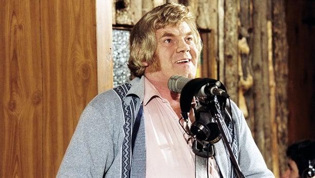 Big Tom in his recording studio in Castleblayney, Co Monaghan in 1980
