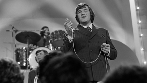 Big Tom performs on stage in Dublin's Cabra Grand Cinema in October 1971. RTÉ Television recorded concerts here and broadcast edited versions in a series called 'Caught in the Act'. Big Tom and The Mainliners appeared in the second episode of the first se