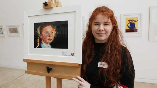 Hetty Lawlor won the Texaco Children's Art Competition with her entry 'Gráinne'