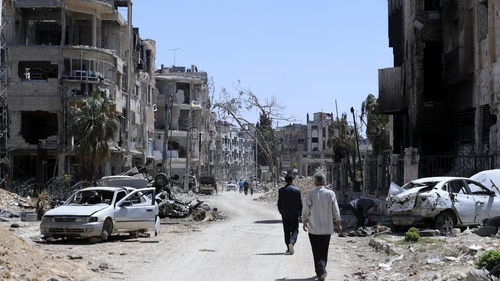 Douma is the site of the suspected gas attack earlier this month
