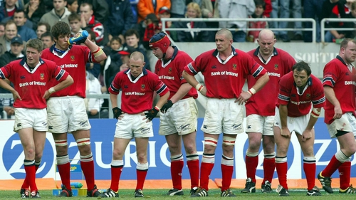 Munster players dejected following their one-point loss to Toulouse in the 2003 European Cup semi-final
