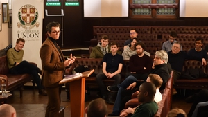 Joey Barton speaking at The Cambridge Union in February