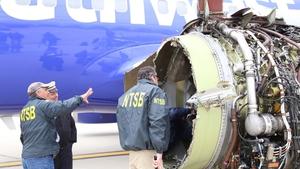 The passenger jet made an emergency landing at Philadelphia International Airport