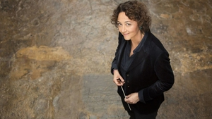 Conductor Nathalie Stutzmann leads the RTÉ National Symphony Orchestra