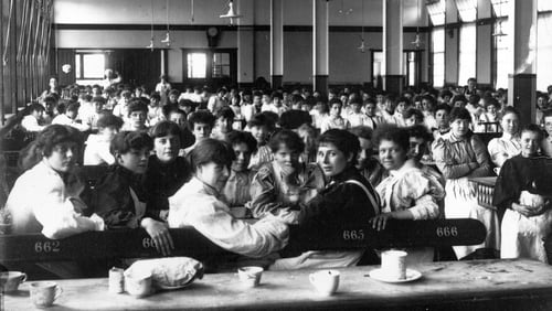 The way things used to be: canteen at the Rowntree factory in Yorkshire, 1900. Photo: Borthwick Institute/Heritage Images/Getty Images
