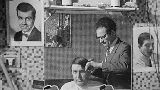 Frank Hall and hairdresser (1968)
