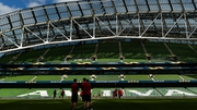 Scarlets training at the Aviva on Friday