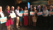 Fine Gael members launching the party's Vote Yes campaign