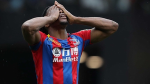 Wilf Zaha was booked for diving