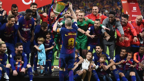 Andres Iniesta is off at the end of the season