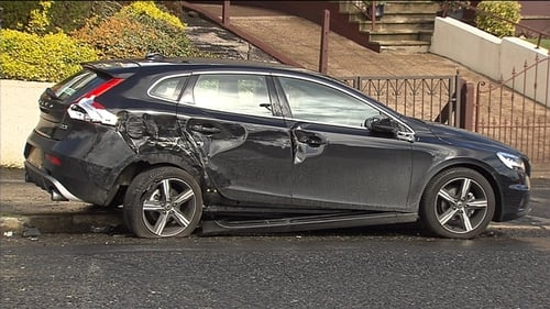 A number of parked cars were also damaged during the incident