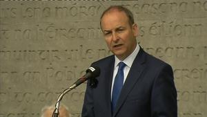 Leader Micheál Martin addresses the Fianna Fáil 1916 Commemoration at Arbour Hill in Dublin
