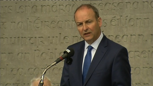 Micheál Martin reacted to comments made by the Taoiseach