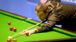 Ronnie O'Sullivan won seven of eight frames this morning