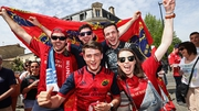 Munster fans ahead of the game
