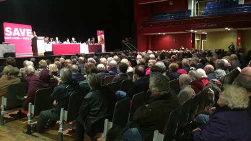 The event in Castlebar was attended by people from several counties, ahead of next month's referendum