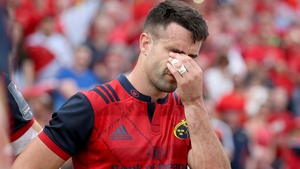Conor Murray shows his disappointment after the game