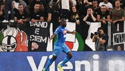 Kalidou Koulibaly celebrates his last-minute winner in Turin