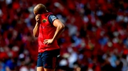 Simon Zebo cuts a forlorn figure following the Champions up semi-final defeat to Racing 92