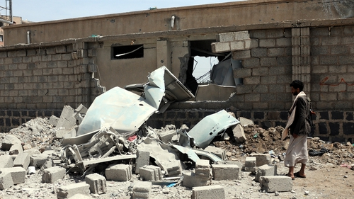 It is the latest Saudi-led air strike on the country, after a similar strike hit a power station  in Sana'a on Friday