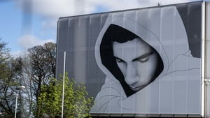 Artwork by Joe Caslin on the RTÉ campus as part of The Big Picture series focusing on youth mental health in Ireland