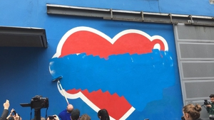 The large Repeal the Eighth mural by artist Maser has been painted over (Pic: @IvanaBacik)