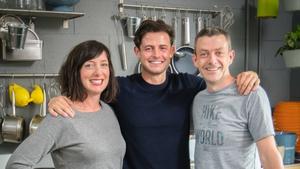 Karen O'Donohoe, Michael Kelly with chef Jack Kirwan.
