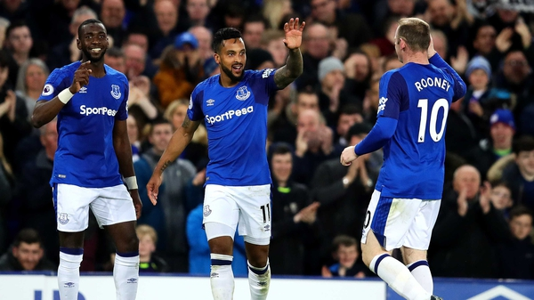 Theo Walcott scored the Everton winner