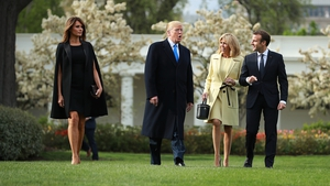 Emmanuel Macron at the White House for the start of his state visit