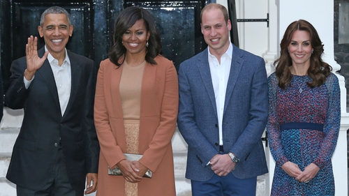 A host of stars including former US First Lady Michelle Obama congratulate royal couple after birth of third child