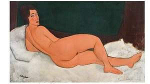 Amedeo Modigliani's 'Nu couche (sur le cote gauche)' is valued at $150m (Pic: Sotheby's)