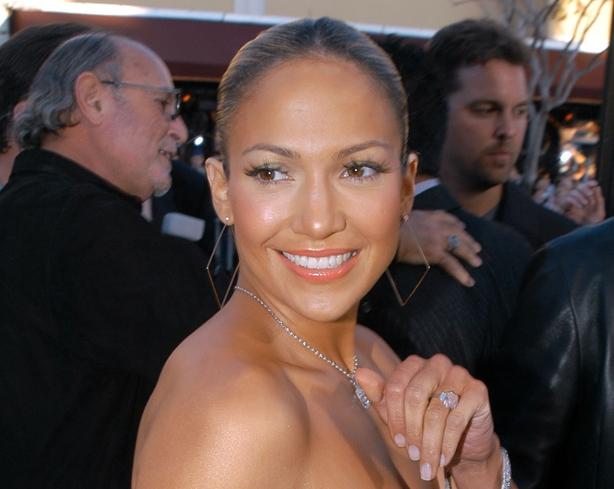 Jennifer Lopez during Daredevil Premiere at Mann Village in Los Angeles, CA, United States