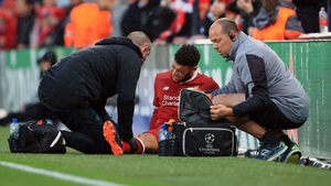 Oxlade-Chamberlain was carried off on a stretcher with his right knee in a brace