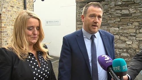Baby Mark's parents Róisín and Mark Molloy gave their reaction after the verdict was delivered yesterday