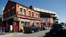 The incident happened outside the Albert pub beside Anfield stadium