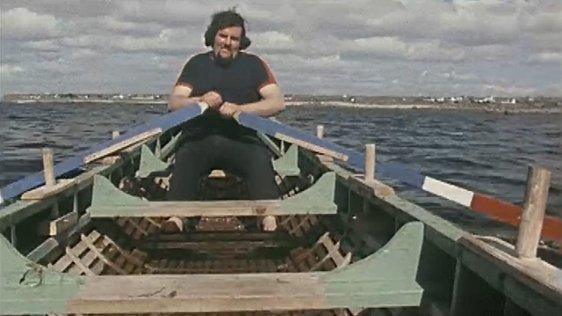 Currach rower Rory O'Connor, An Spidéal (1978)