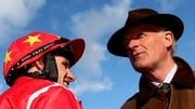 Paul Townend congratulated by Willie Mullins