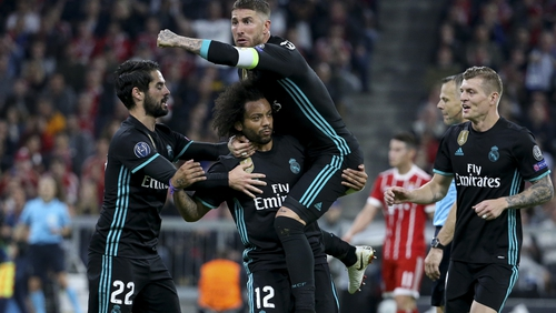 Real Madrid take a 2-1 lead going into the second leg
