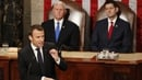 French President Emmanuel Macron criticised some Trump policies in his Congress speech