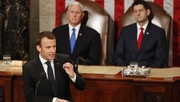 Emmanuel Macron criticised some Trump policies in his Congress speech