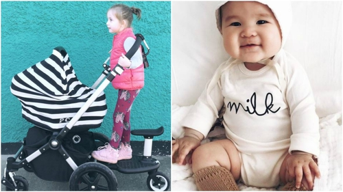 Baby buggy covers, cool t-shirts, twinning for big & small kids too