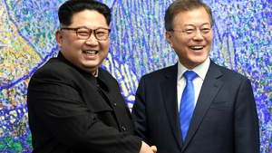 "North Korean leader Kim Jong-un and South Korean President Moon Jae-in have vowed ""complete denuclearisation"" of the Korean peninsula"
