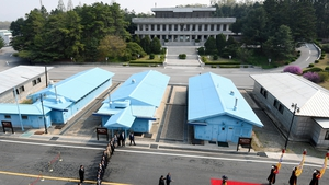 The talks were reportedly held in the DMZ village of Panmunjom