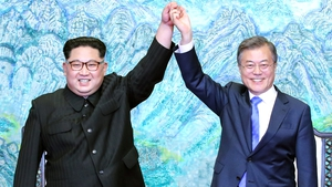 The two leaders pledged to work for complete denuclearisation on the Korean peninsula