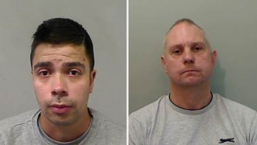 Alexis Guesto (L) and James White (R) are wanted for a range of offences, including breach of licence and warrants