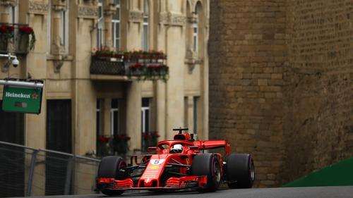 Vettel powers to pole around the streets of Baku