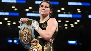 Katie Taylor's four world lightweight belts were up for grabs in her bout with Amanda Serrano