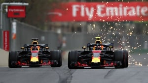 The Red Bull cars took each other out of the race in Baku